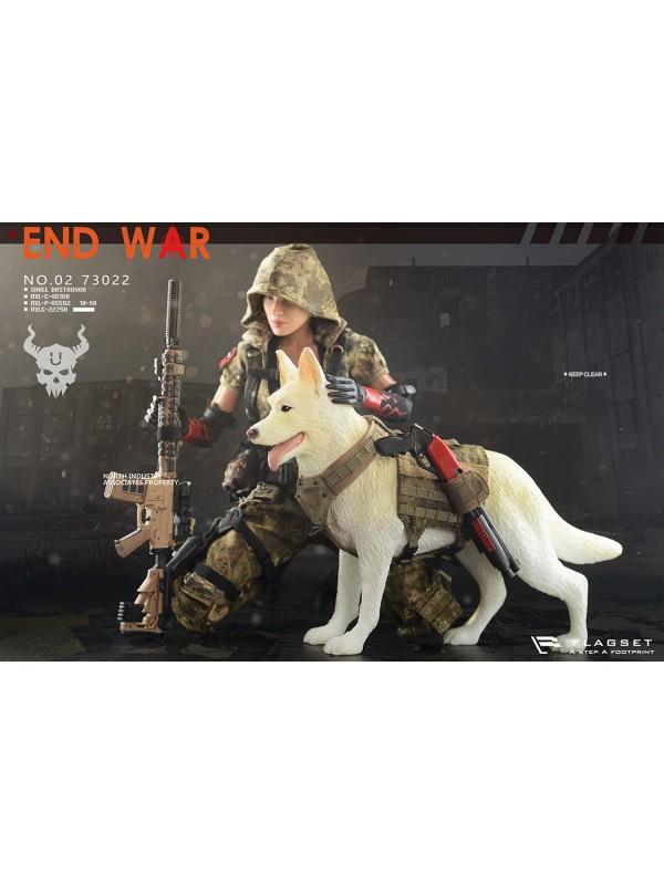 "FLAGSET FS-73022 1/6 DOOMSDAY WAR SERIES END WAR DEATH SQUAD ""U"" Umir + Dog Suit"