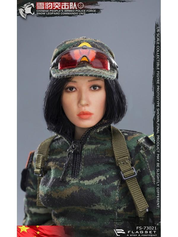 FLAGSET FS-73021 1/6 CHINESE SNOW LEOPARO COMMANDO UNIT— Female Sniper