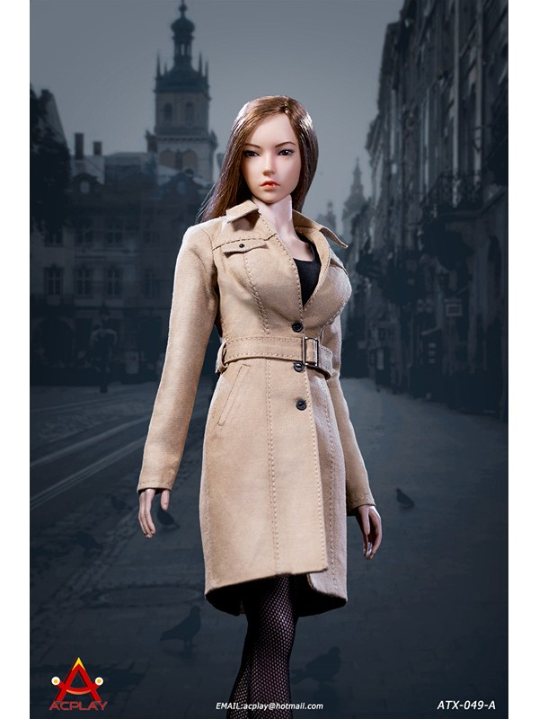 ACPLAY ATX049 Female trench coat suit Sand
