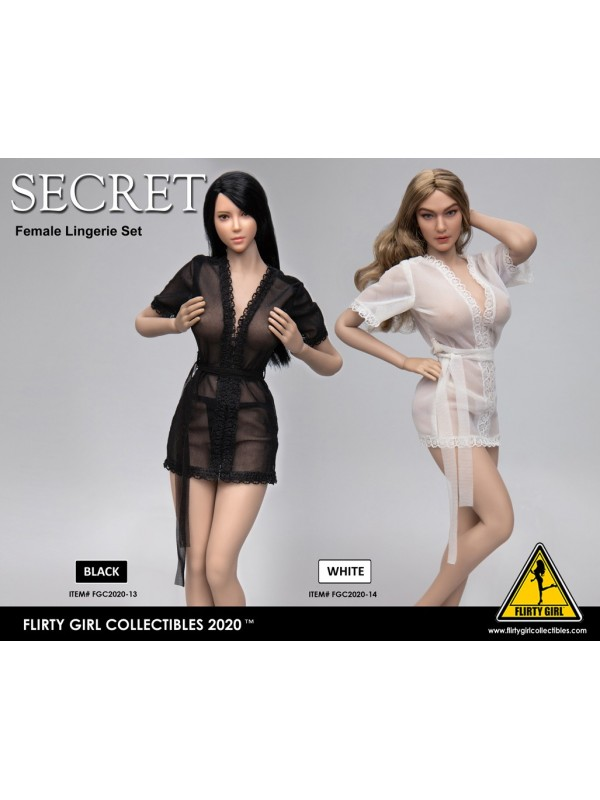 FLIRTY GIRL COLLECTIBLES FGC2020-13/ FGC2020-14 1/6 Sheer Lingerie robe
