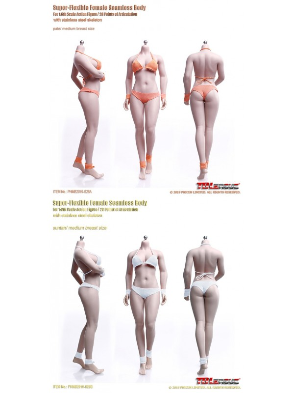 TBLeague S28A / S29B 1/6  Female Super-Flexible Seamless Body Pale / Suntan