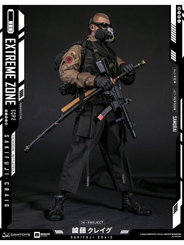DAMTOYS EBS001 1/6 EXTREMEZONE Samurai SAKIFUJICRAIG Collectible Figure Specifications