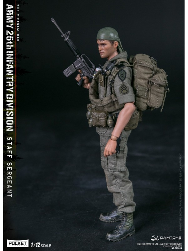 (SOLD OUT)DAMTOYS PES006 1/12  POCKET ELITE SERIES - ARMY 25th Infantry Division Private STAFF SERGEANT
