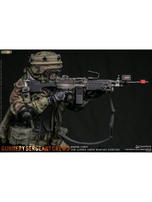 "DAMTOYS 78082 1/6 Marine Corps SAW GUNNER urban warfare exercises ""Gunnery sergeant Crews"