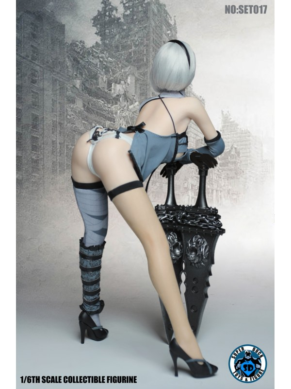 (Sold out)SUPER DUCK SET017 1/6 Cosplay Sexy  dress version set with head