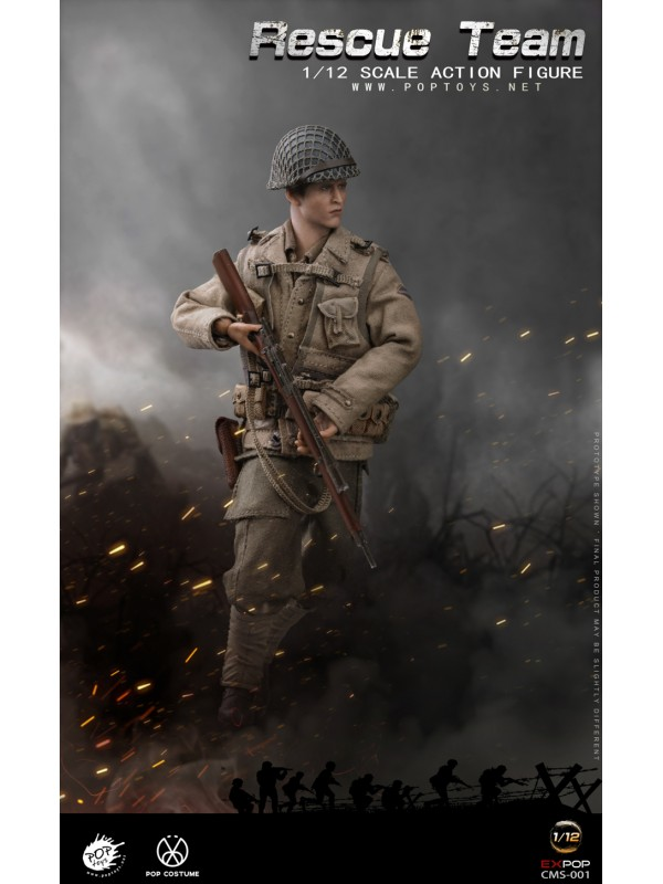 POPTOYS CMS001 1/12  WWII US Rescue Squad Sniper