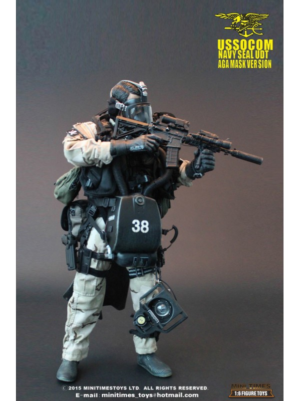 Mini Times Toys 1/6 MT-M002 USSOCOM Navy Seal UDT Aga Mask Version