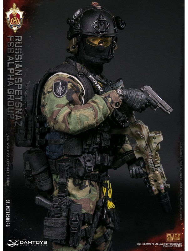 DAMTOYS 78071 1/6 RUSSIAN SPETSNAZ FSB ALPHA GROUP St.Petersburg CLASSIC VERSION