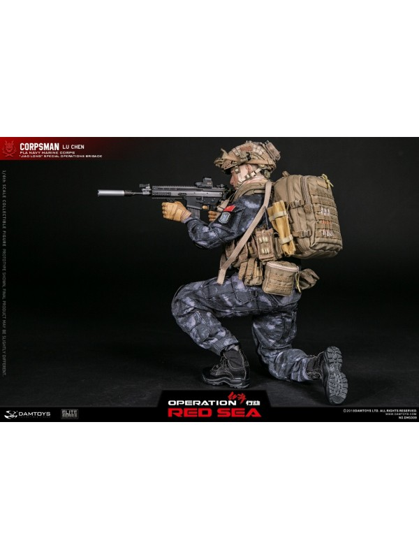 "DAMTOYS DMS009 1/6 OPERATION RED SEA PLA NAVY MARINE CORPS ""JIAO LONG"" SPECIAL OPERATIONS BRIGADE OPERATOR CORPSMAN - LU CHEN"