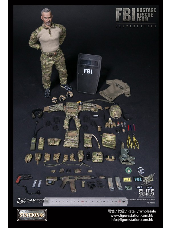 (IN STOCK) DAMTOYS 78042 1/6 FBI HRT AGENT (HOSTAGE RESCUE TEAM)/ FBI HRT-Detective