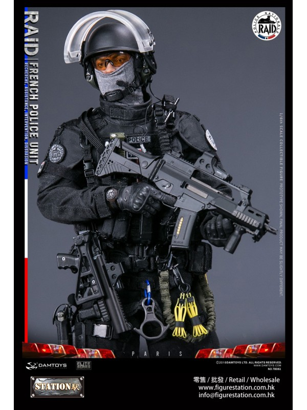 DAMTOYS 78061 1/6 FRENCH POLICE UNIT--- RAID IN PA...