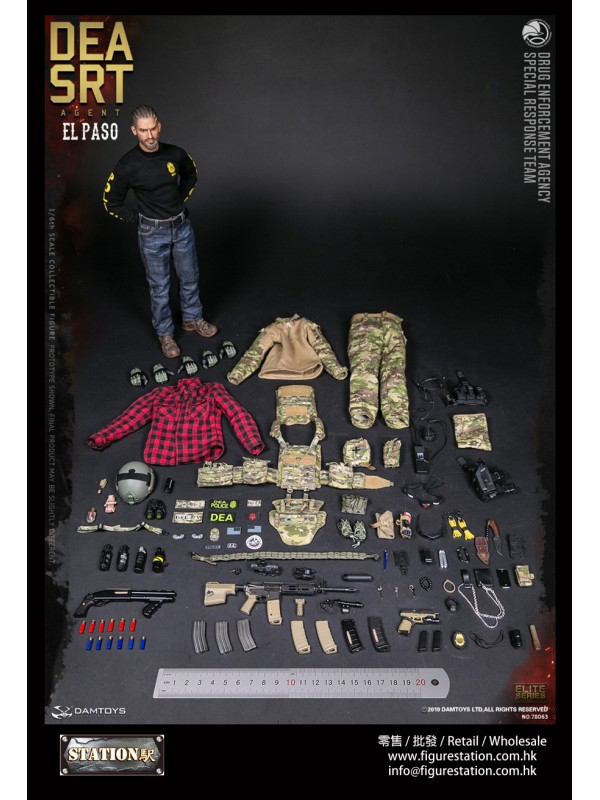 DAMTOYS 78063 1/6 DEA SRT (Special Response Team) ...