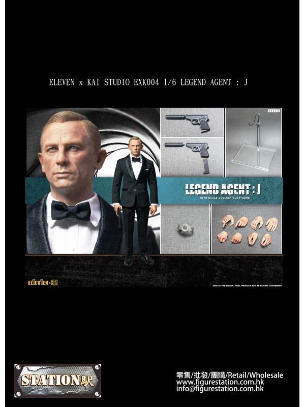 ELEVEN x KAI STUDIO EXK004 1/6 LEGEND AGENT : J  (Pre-order HKD$748 )