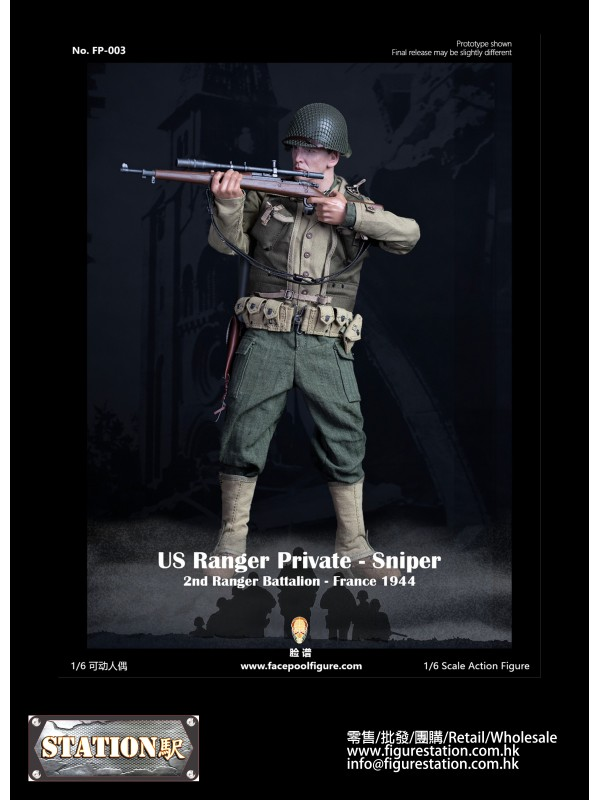 Facepoolfigure  FP003A 1/6 Action Figure - US Ranger Private Sniper – France 1944 ( FP-003A )-Regular Edition
