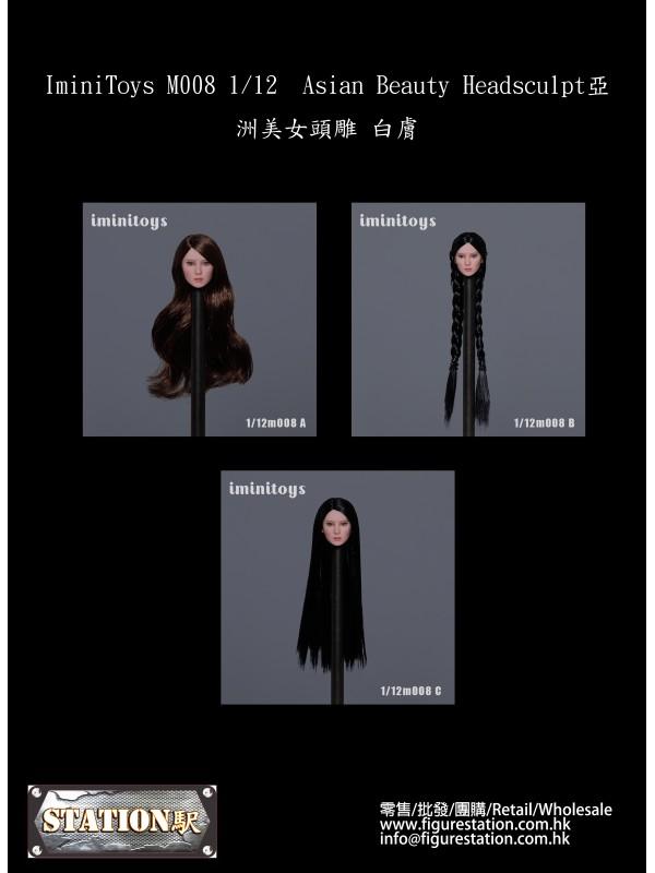 (PRE-ORDER) IminiToys M008 1/12 Asian Beauty Headsculpt (Pre-order HKD$ 218)