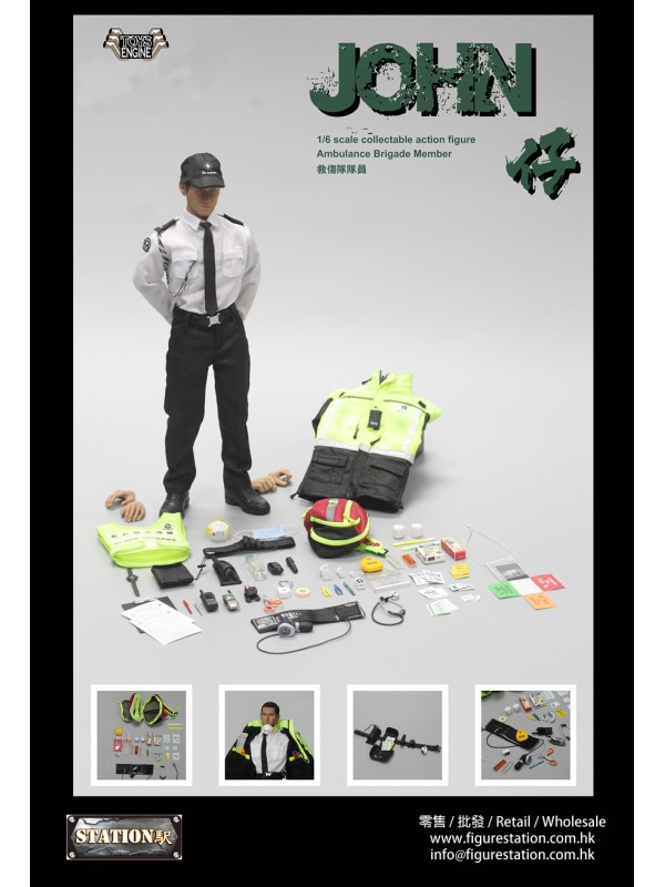 "Toys Engine 1/6 Ambulance Member figure ""JOHN"""