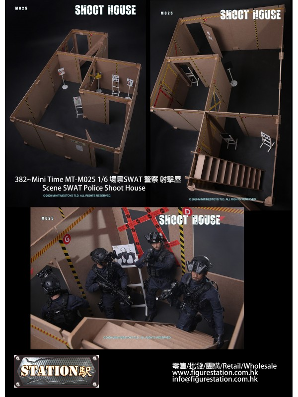 Mini Time MT-M025 1/6 Scene SWAT Police Shoot House