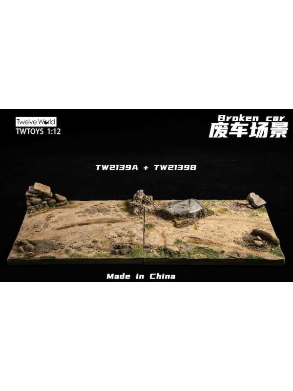TWTOYS TW2139A,B 1/12 Broken Car floor model (Pre-order HKD$200 )
