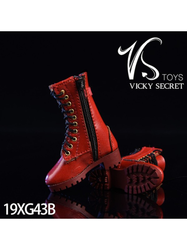 VSTOYS 19XG43 1/6 Zipper boots hollow leather