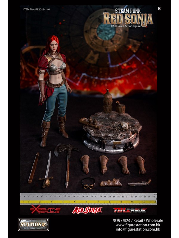 TBLeague PL2019-140-B 1/6 Steam Punk Red Sonja (Wi...