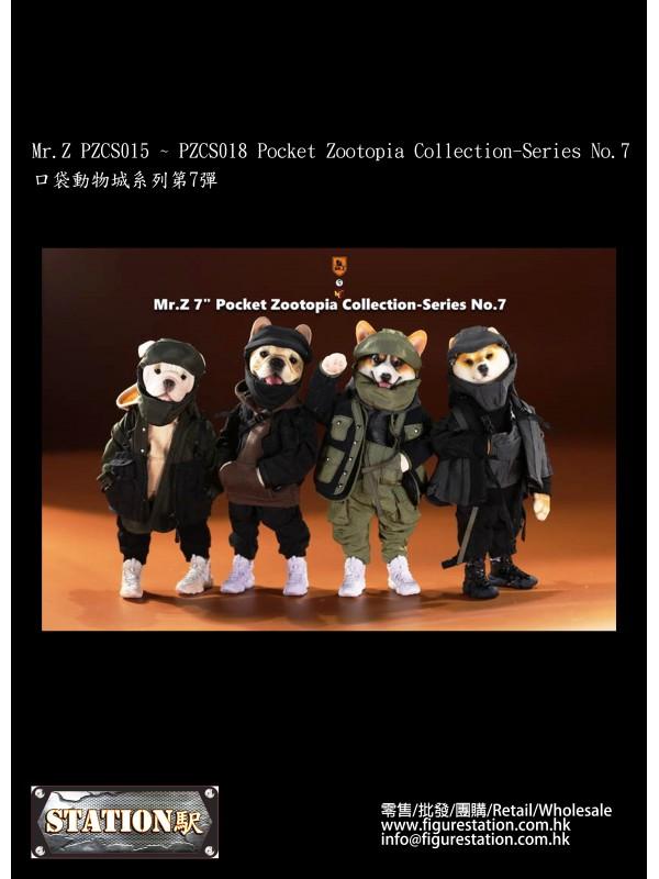 Mr.Z PZCS015 ~ PZCS018 Pocket Zootopia Collection-Series No.7 (Pre-order HKD$648 )