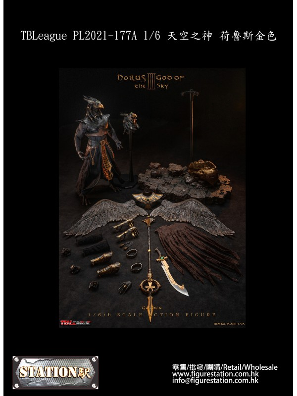 (PRE-ORDER) TBLeague PL2021-177A 1/6 Horus The God of Sky Golden (Pre-order HKD$ 1358)