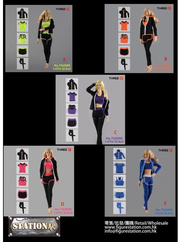 THREEQ TQ2088 1/6 Women's Sports Yoga Clothing