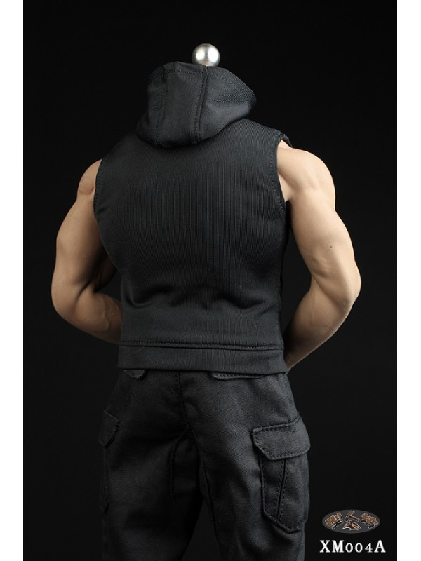 XRF XM004 1/6 Men's Sleeveless Slim Hoodie Set