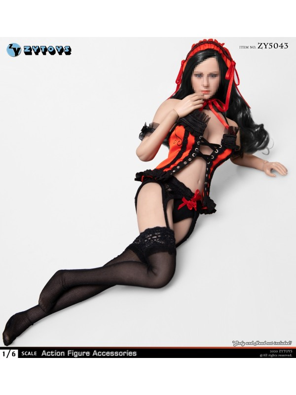 ZYTOYS ZY5043 1/6 Red Maid Outfit