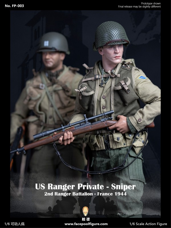 Facepoolfigure  FP003B 1/6 Action Figure - US Ranger Private Sniper – France 1944 Special Edition ( FP-003B )