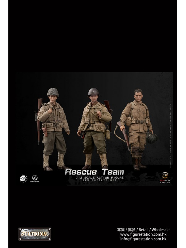 POPTOYS CMS004 1/12  WWII US Rescue Squad Captain/Shooter/Soldier