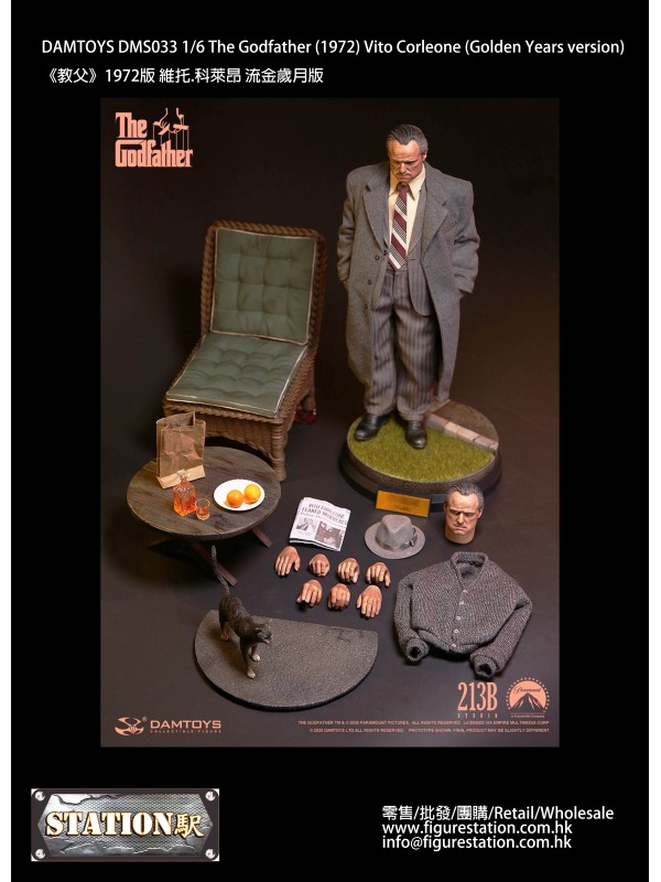 DAMTOYS DMS033 1/6 The Godfather (1972) Vito Corleone (Golden Years version)