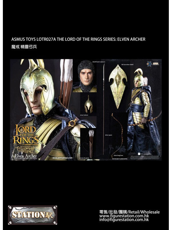 ASMUS TOYS LOTR027A 1/6 THE LORD OF THE RINGS SERIES: ELVEN ARCHER (Pre-order HKD$1438)