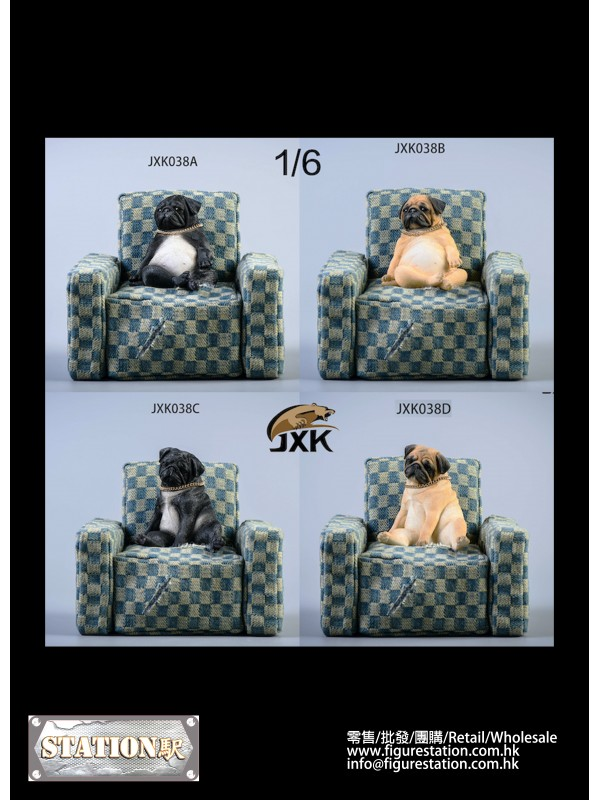 JXK JXK038 1/6 Decadent Dog Series Sofa