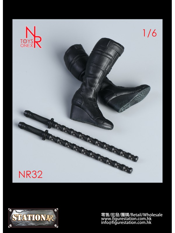 NRTOYS NR32 1/6 Women's Boots + Electric Baton