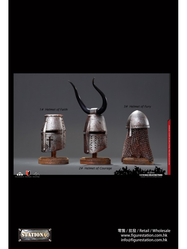 (Sold out)COOMODEL NO.SE059 1/6 SERIES OF EMPIRES (DIE-CAST ALLOY) -Jihad Helmets (Three Helmets Suit)