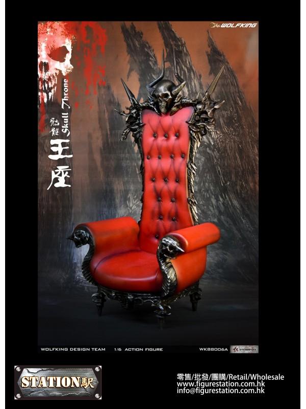 WOLFKING WK88006A 1/6 Skull Throne Sofa (Sofa scen...