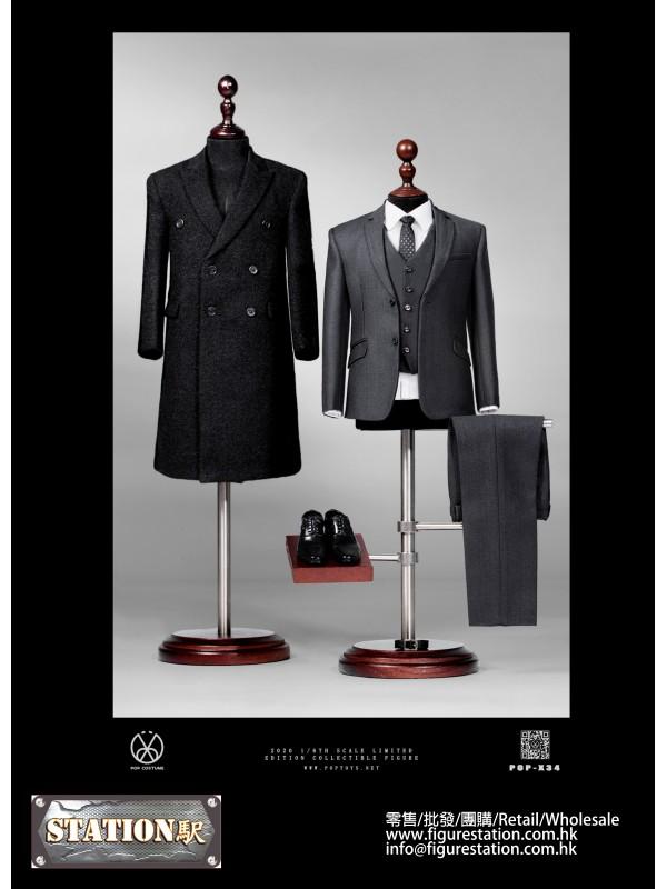 POPTOYS X34 1/6 Rich gentleman Ben Overcoat suit