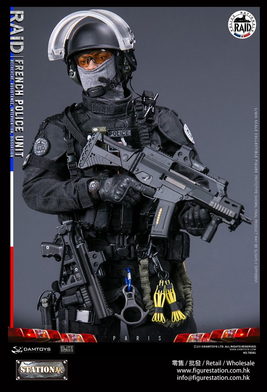 DAMTOYS 78061 1/6 法國特警 黑豹 RAID反恐突擊隊 巴黎