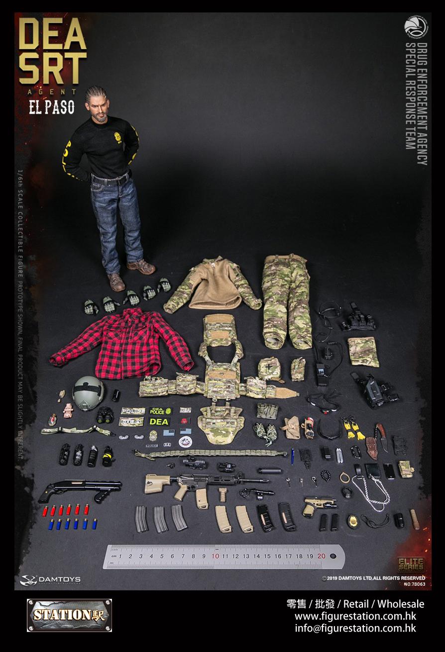 DAMTOYS 78063 精英系列1/6 美國DEA緝毒局SRT特別響應小隊 探員埃爾帕索