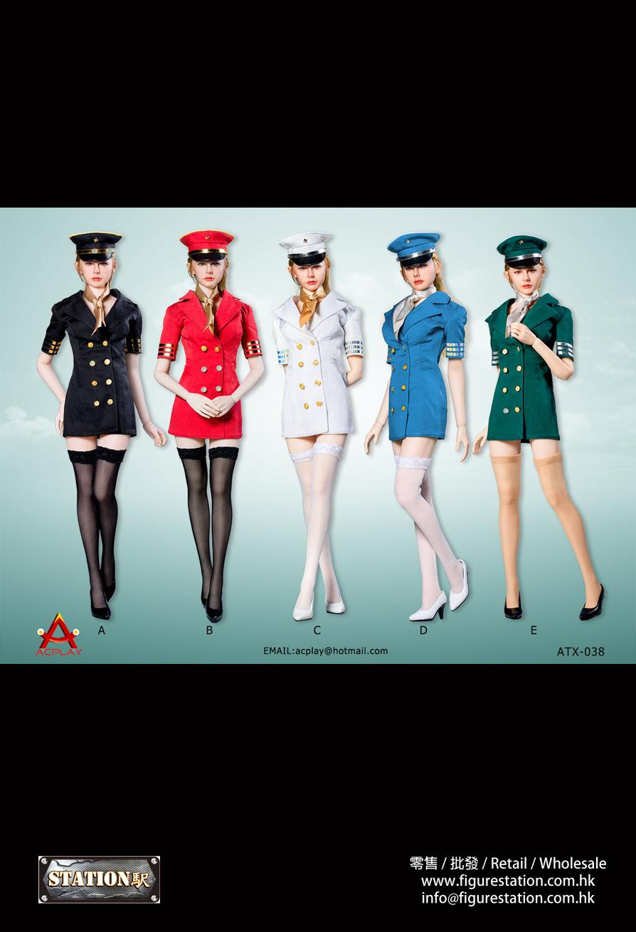 ACPLAY 1/6 ATX038 性感女航空員飛行服套裝 5款色