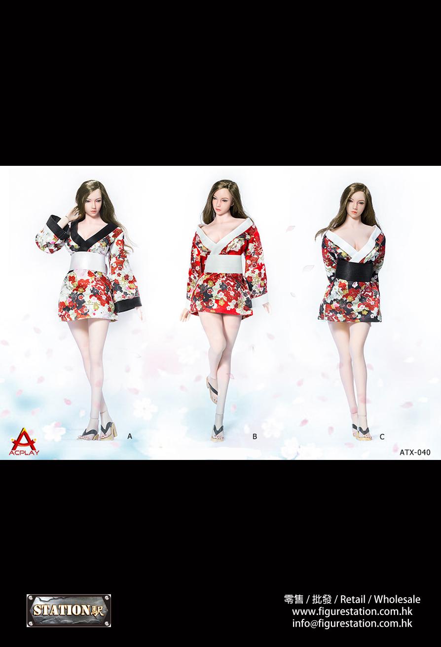 ACPLAY ATX-040 1/6 日系性感女士連衣裙和服套裝 三款