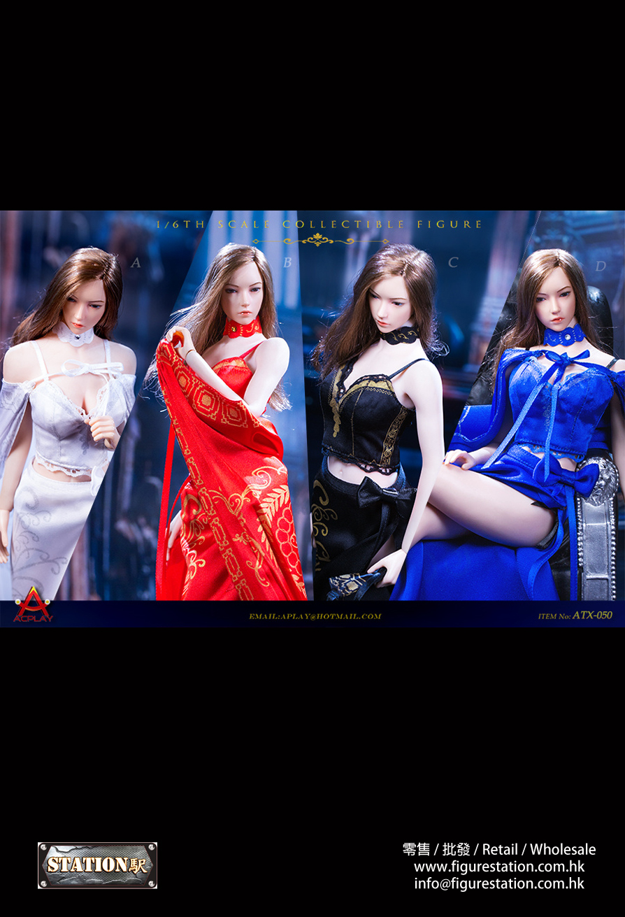 ACPLAY ATX050 1/6女王風復古長裙披風套裝